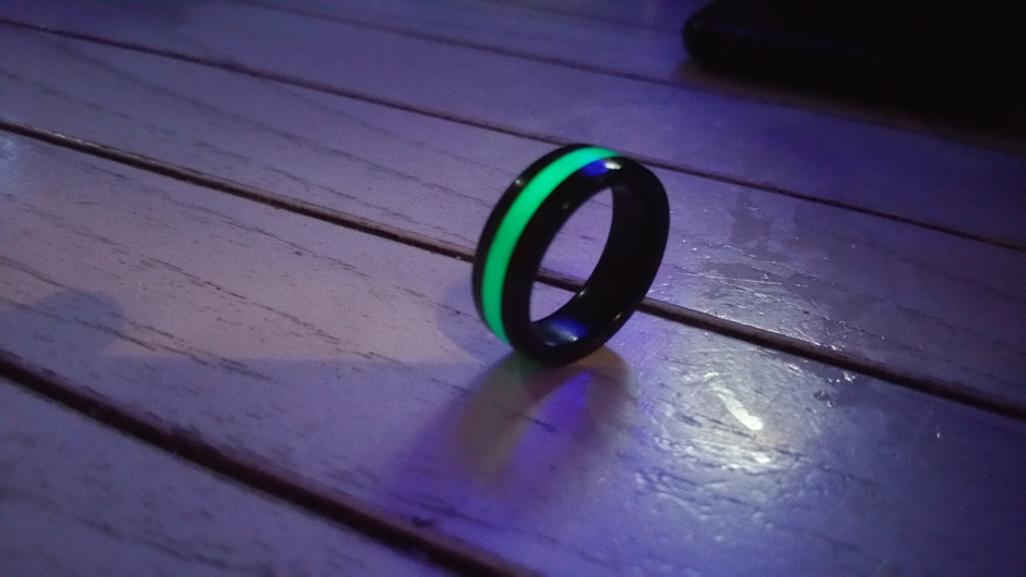 Anillo Carbono blue line